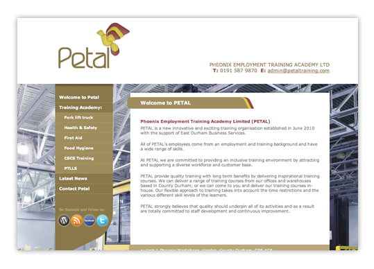 Petal Training Website